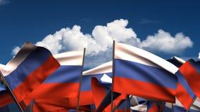 Banderas rusas que agitan ilustración del vector