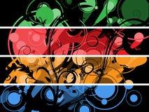 Banderas separadas stock de ilustración