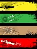 Banderas separadas Imágenes de archivo libres de regalías