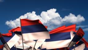 Banderas servias que agitan libre illustration