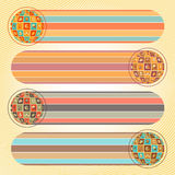 Banderas sociales del establecimiento de una red con las esferas ilustración del vector