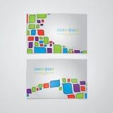 Banderas/tarjetas retras del vector con el espacio para su contenido. EL fresco Fotos de archivo libres de regalías