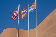 Banderas, U S A Puerto Rico y Cuba Imagen de archivo