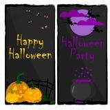 Banderas una de Halloween ilustración del vector
