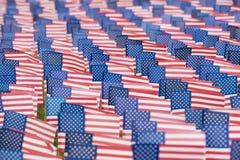 Banderas unidas del estado para el evento 9-11 Imagen de archivo libre de regalías