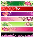 Banderas/vector/#1 determinado del Web site del amor y de los corazones stock de ilustración