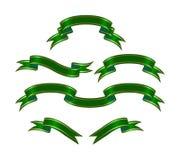 Banderas verdes Fotos de archivo libres de regalías