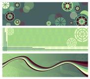 Banderas verdes abstractas Imágenes de archivo libres de regalías