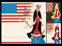 Banderas verticales americanas. libre illustration