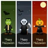Banderas verticales de los monstruos de Halloween [2] Foto de archivo libre de regalías