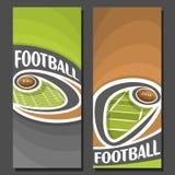 Banderas verticales del vector para el fútbol americano libre illustration