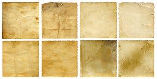 Banderas viejas del papel del vintage fijadas Fotografía de archivo