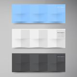 Banderas y cuadrados del vector. Sistema de color libre illustration