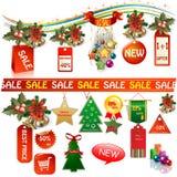 Banderas y etiquetas del márketing de negocio Imágenes de archivo libres de regalías