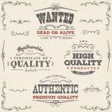 Banderas y etiquetas dibujadas mano de la calidad del vintage libre illustration