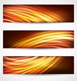 Banderas y fondo abstracto de las cabeceras ilustración del vector