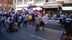 Banderas y patriotismo de la reunión almacen de metraje de vídeo