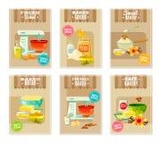 Banderas y tarjetas de la hornada ilustración del vector
