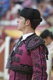 Banderillero, le toréador qui, à pied, place les dards dans le taureau, Image stock