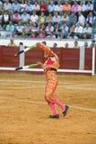 Banderillero, le toréador qui, à pied, place les dards dans le taureau Photos libres de droits