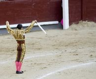 Banderillero Preparing Strike Royalty Free Stock Photos