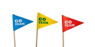 Banderines del deporte en un fondo blanco Imagen de archivo libre de regalías