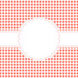 Banderole on checkered pattern Stock Photos