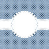 Banderole on point pattern Royalty Free Stock Images