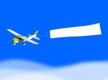 Banderole publicitaire d'avion Image libre de droits