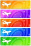 Banderoles publicitaires d'avion Image libre de droits