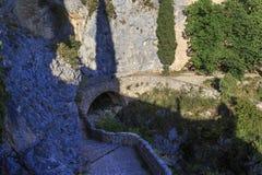 Banderoll på bergslinga Royaltyfri Fotografi