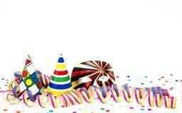 Banderoller och färgade hattar Arkivfoton