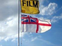 bandery europejskiej jacka Ekranowa flaga zjednoczone królestwo flaga Fotografia Stock