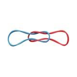 Bandes élastiques élastiques rouges et bleues d'isolement sur un fond blanc Photos stock