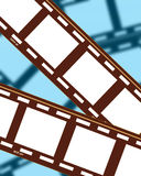Bandes 4 de film Photographie stock libre de droits
