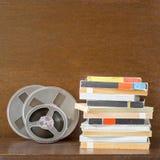 Bandes audio magnétiques de vintage, type bobine à bobine photographie stock libre de droits