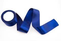 Bandes bleues de satin Photo stock