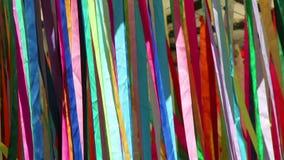 Bandes colorées sur le vent banque de vidéos
