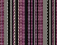 Bandes colorées verticales sur le tissu avec la texture Photo libre de droits