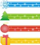 Bandes décoratives avec le symbole de Noël Photographie stock