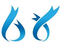 Bandes décoratives bleues Image libre de droits