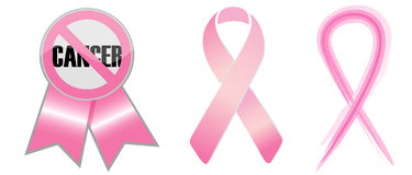bandes de conscience de cancer Images libres de droits