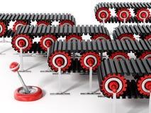 Bandes de conveyeur d'isolement sur le fond blanc iilustration 3d Photo libre de droits