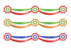 Bandes de décoration de réception d'indicateur illustration de vecteur