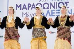 Bandes de danse balkaniques Photographie stock libre de droits