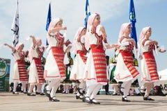 Bandes de danse balkaniques Images libres de droits