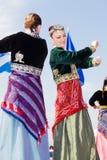 Bandes de danse balkaniques Photos libres de droits