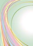 Bandes de différentes couleurs à l'arrière-plan verdâtre d'onde couleurs pastel Photo stock