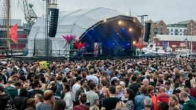 Bandes de festival de port de Bristol Images libres de droits