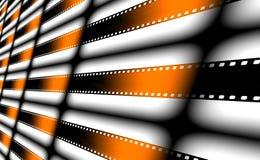 Bandes de film comme fond Images libres de droits